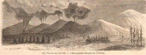 L'Etna pendant l'éruption du 16 février - da Le Monde Illustré N. 420 del 29 aprile 1865
