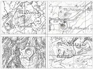 Alcuni degli oronimi sulle cartine I.G.M. dell'Etna