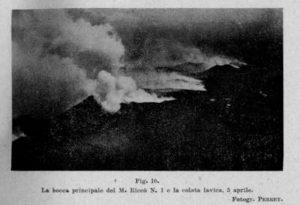 Due immagini del Monte Riccò del fotografo Perret 1