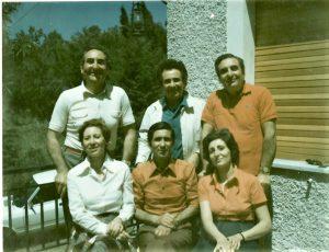 I fratelli Lupo: da sinistra, in piedi, Nicola, Nino e Ugo; in basso, da sinistra, Zina (unica vivente), Elio e Maria