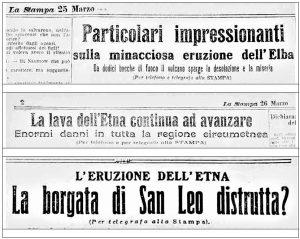 Titoli da La Stampa del 25 e 26 marzo 1910