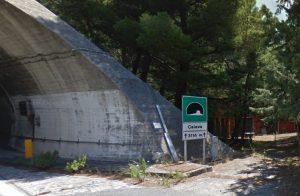 L'ingresso della galleria Capo Calavà dell'Autostrada A20 (immagine dalla funzione Street View di Google Earth)