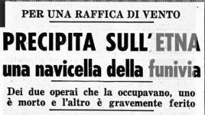 Il titolo del quotidiano milanese Corriere della Sera del 24 maggio 1960