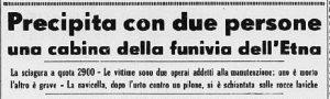 La notizia sul quotidiano torinese La Stampa del 24 maggio 1960