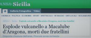 La tragica notizia riportata dal sito web ANSA.it